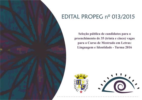 Edital Turma 2016
