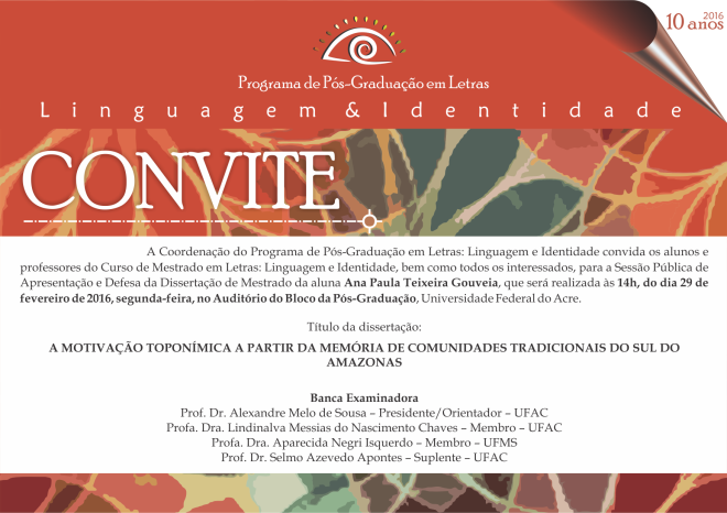 Convite Defesa Ana Paula