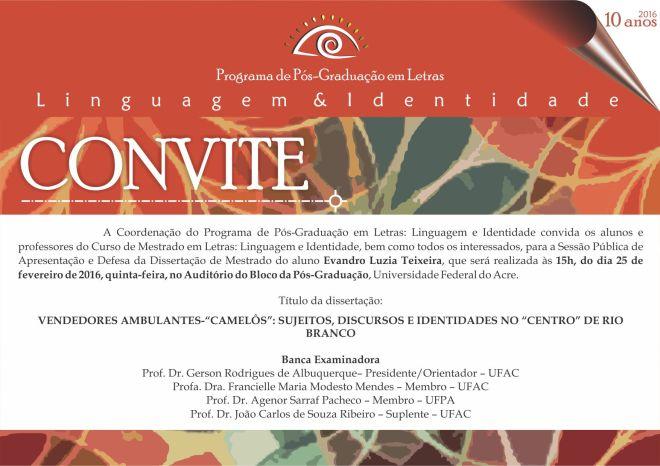 Convite Defesa Evandro