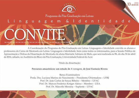 Convite Defesa Marinete
