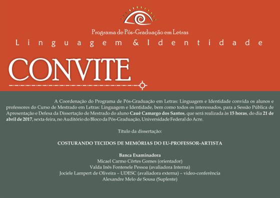 Convite Defesa Cauê