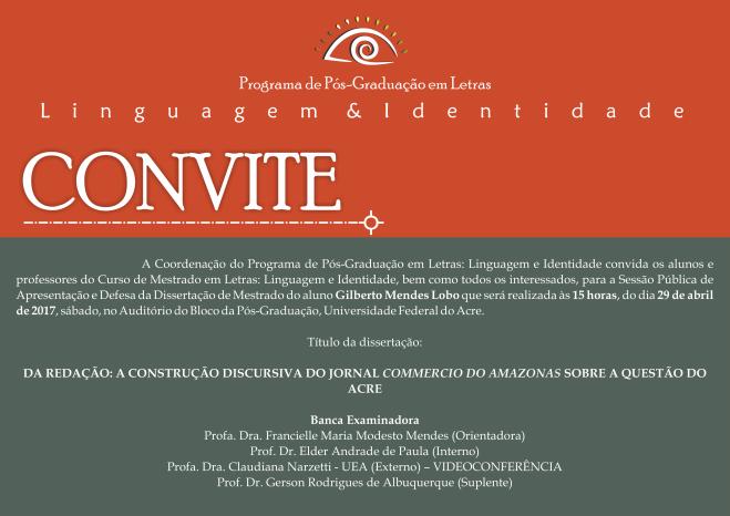 Convite Defesa Gilberto