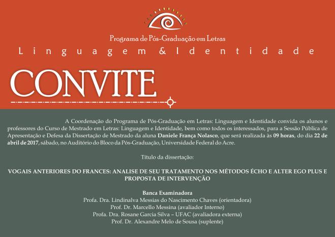 Convite Defesa nolasco