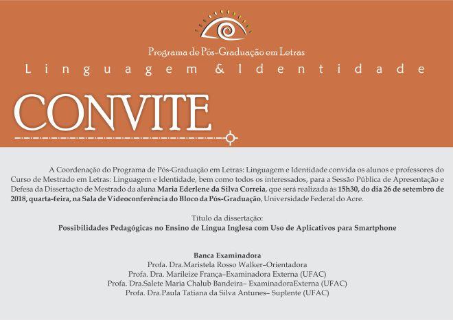 Convite Defesa Ederlene