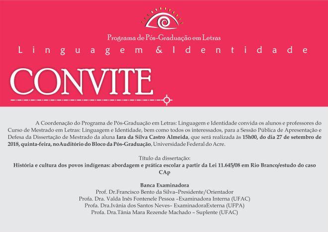 Convite Defesa Iara