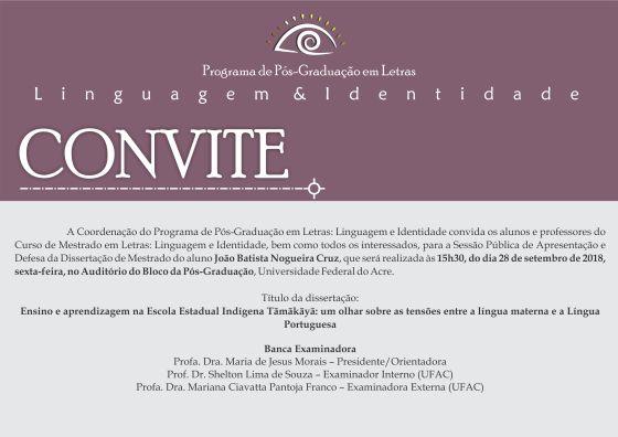 Convite Defesa João