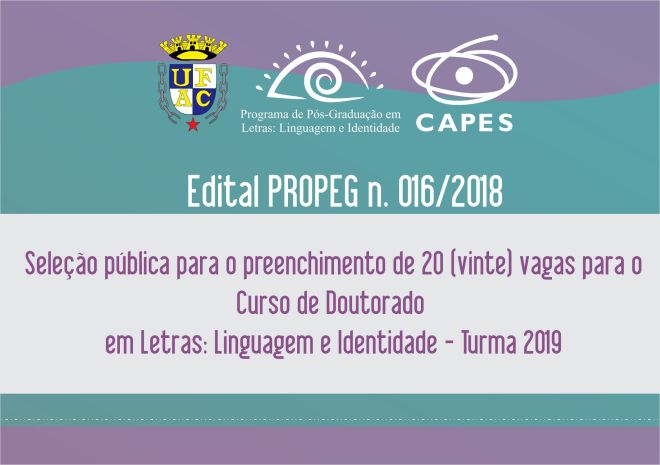 Edital Doutorado Turma 2019