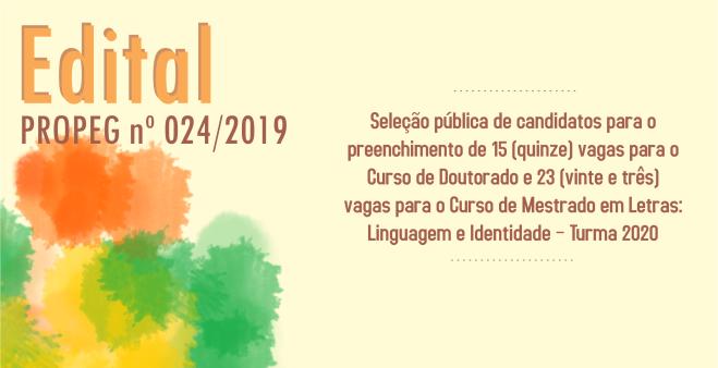 Edital 2019