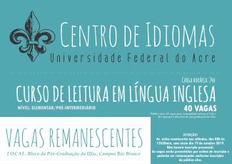 Centro de Idiomas CARD INGLES VAGAS REMANESCENTES