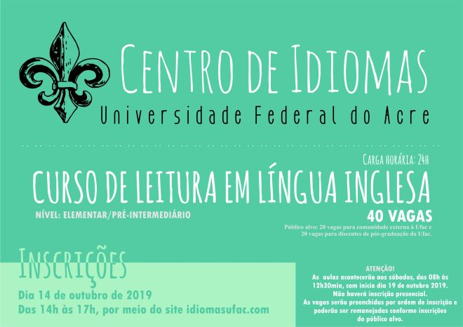 Centro de Idiomas card INSCRIÇÃO