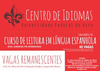 Centro de Idiomas vagas remanescentes espanhol