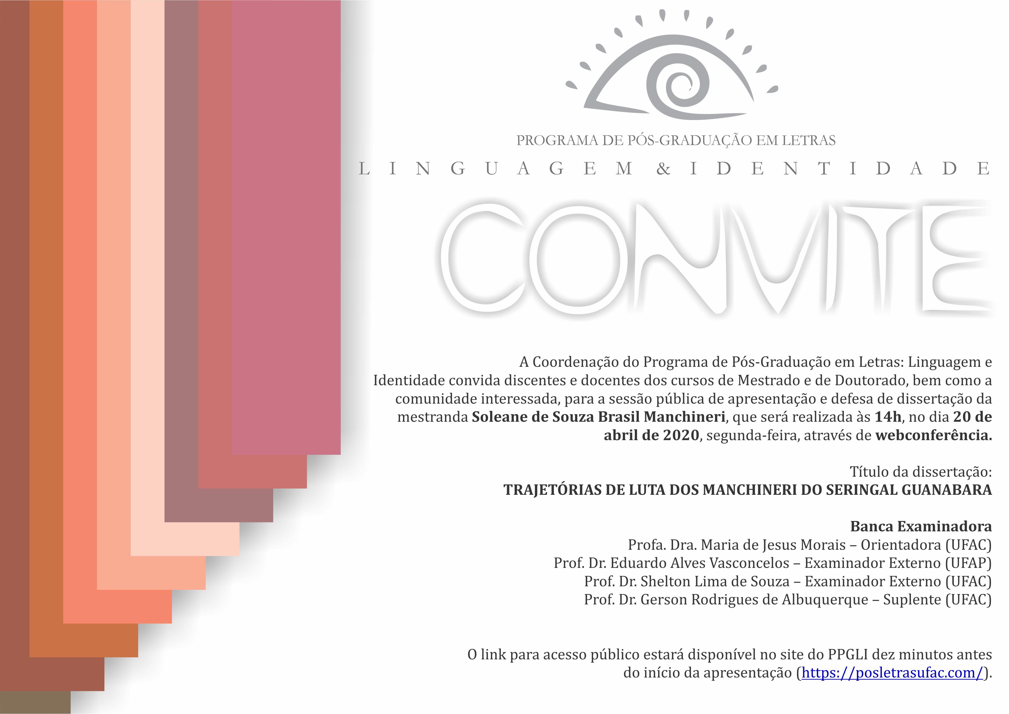 Convite para Defesa - 2020 Soleane
